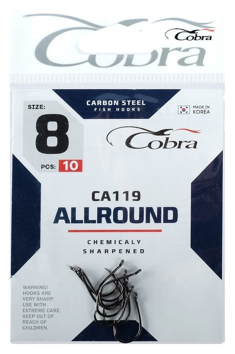 Крючки Cobra Allround Ca119-8, 10 шт.  Cobra