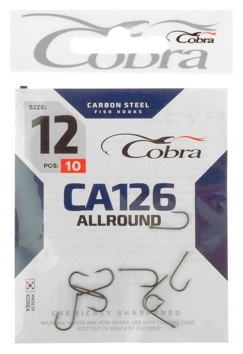 Крючки Cobra Allround Ca126-12, 10 шт.  Cobra