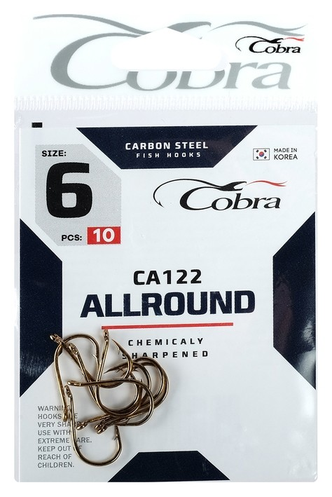 Крючки Cobra Allround Ca122-6, 10 шт.  Cobra