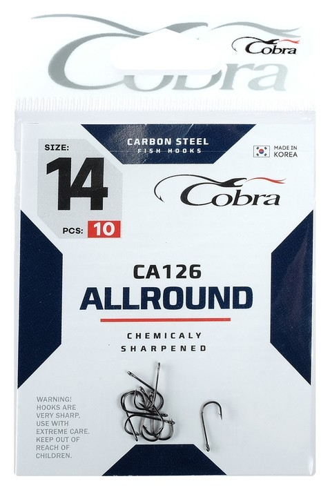 Крючки Cobra Allround Ca126-14, 10 шт.  Cobra