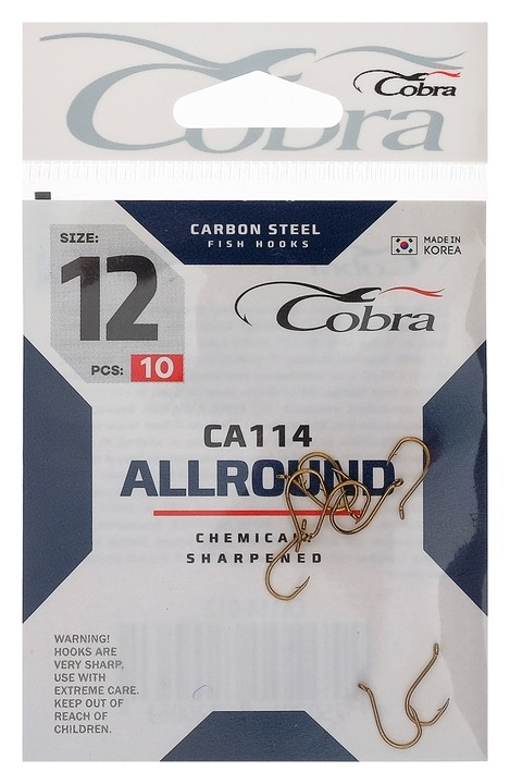 Крючки Cobra Allround сер. Ca114, №12, 10 шт.  Cobra