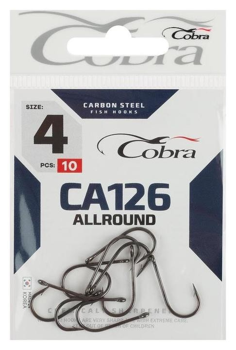 Крючки Cobra Allround Ca126, №4, 10 шт.  Cobra