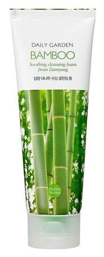 Увлажняющая пенка для лица с бамбуком Daily Garden Bamboo Soothing cleansing foam from Damyang  Holika Holika
