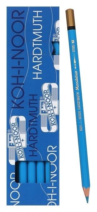 Карандаш акварельный Koh-i-noor Mondeluz 3720/052, L=175 мм, грифель= 3,8 мм, синий т-гол лед  Koh-i-noor