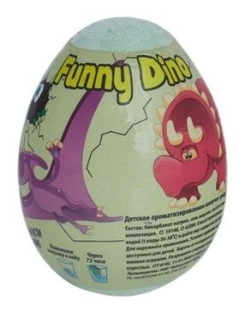 Шипучая бомбочка для ванны с растущим динозавром Funny Dino  Laboratory Katrin