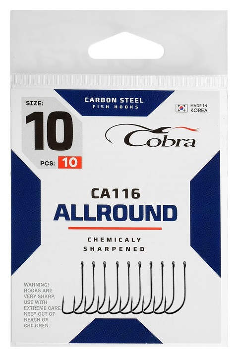 Крючки Cobra Allround сер. Ca116 №10 10шт  Cobra