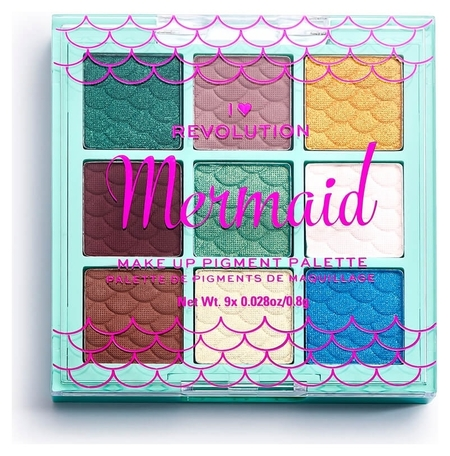 Палетка пигментов для лица Mermaid Make Up Pigment Palette  I Heart Revolution
