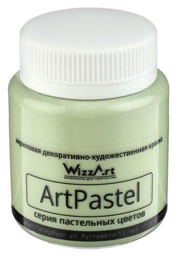 Краска акриловая Pastel 80мл Wizzart зеленый окись хрома пастельный Wa9.80  WizzArt