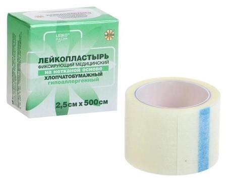 """Лейкопластырь """"Leiko"""" на нетканой основе, гипоаллергенный 2,5см х 500см  Leiko"""
