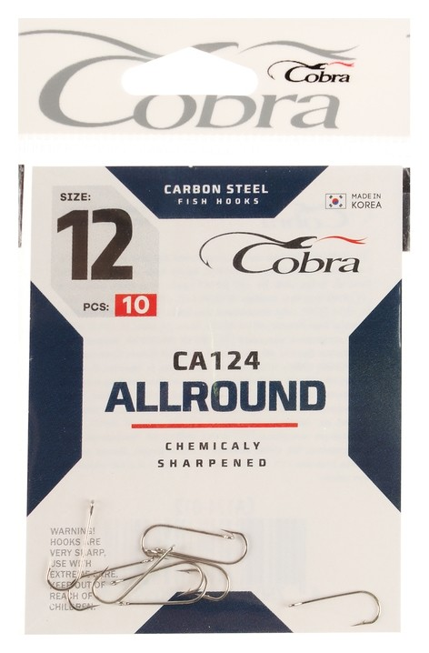 Крючки Cobra Allround серия Ca124 №12, 10 шт.  Cobra