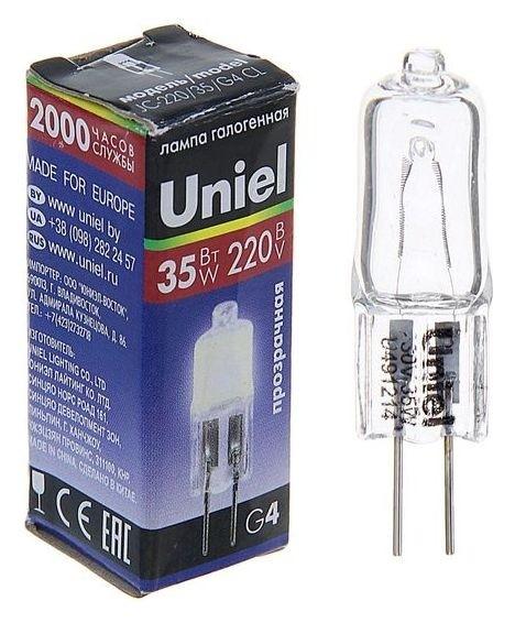 Лампа галогенная Uniel, G4, 35 Вт, 220 В, прозрачная  Uniel