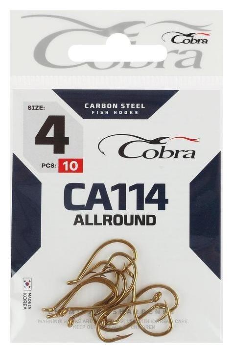 Крючки Cobra Allround серия Ca114 №4, 10 шт.  Cobra
