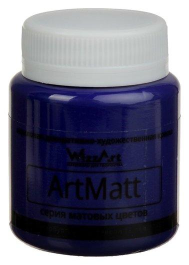 Краска акриловая Matt 80 мл Wizzart синий матовый Wt14.80  WizzArt