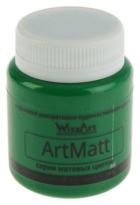 Краска акриловая Matt 80 мл Wizzart зеленый матовый Wt11.80  WizzArt