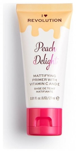 Праймер для лица матирующий Peach Delight Mattifying Primer With Vitamin C And E  I Heart Revolution