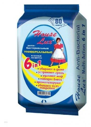 Салфетки для уборки в доме влажные универсальные антибактериальные 6 в 1