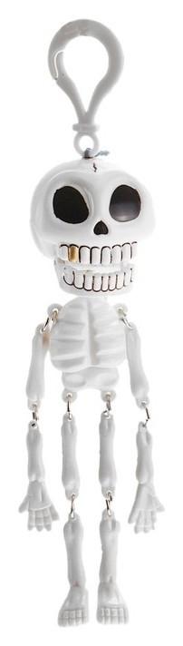 Подвеска «Скелет», белый с чёрными глазами  NNB