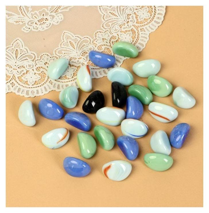 """Камень для декора """"Цветные овальчики"""" (250 г)  NNB"""