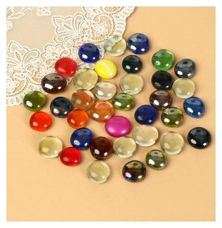 """Камень для декора """"Разноцветные плоские марблс"""" (250 г)  NNB"""