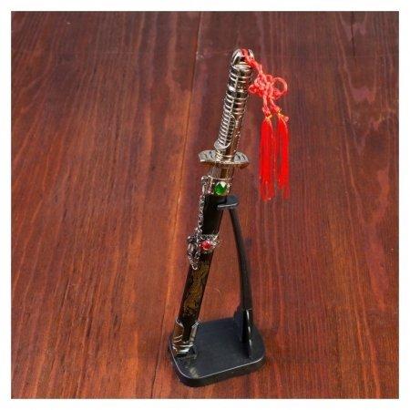 Сувенирный кинжал на подставке, на ножнах дракон, рукоять в форме светового меча, 25 см  NNB