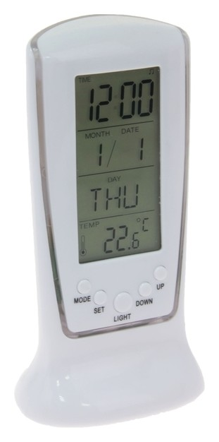 Будильник Luazon Lb-02 «Обелиск», часы, дата, температура, подсветка LuazON