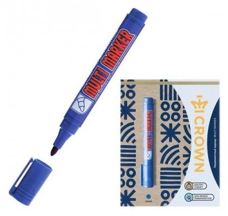 Маркер перманентный синий 3.0 мм Multi Marker  Crown