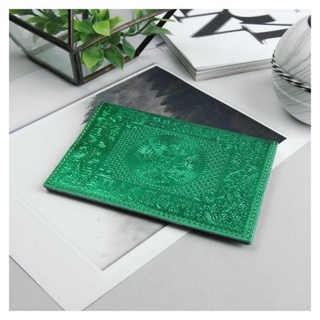Обложка для паспорта, металлик, цвет зелёный  NNB