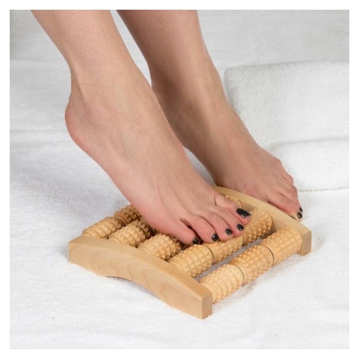 Массажёр для ног Барабаны, деревянный, 5 рядов, средний  Тимбэ Продакшен