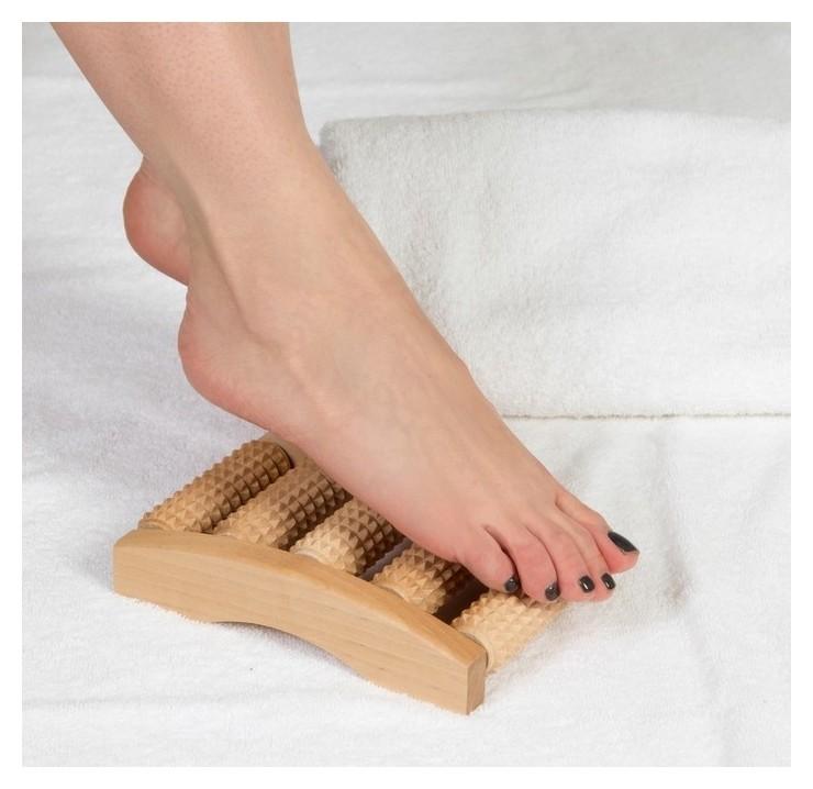 Массажёр для ног Барабаны, деревянный, 5 рядов, малый  Тимбэ Продакшен