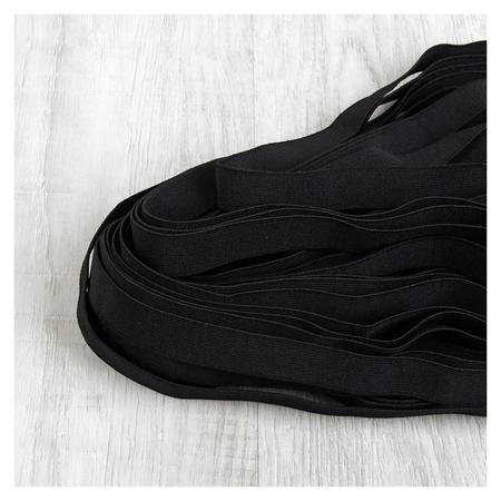 Лента эластичная, 20 мм, 25 ± 1 м, цвет чёрный  NNB