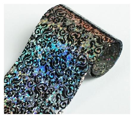 Переводная фольга для декора «Орнамент», 4 × 50 см, цвет серебристый/чёрный  NNB