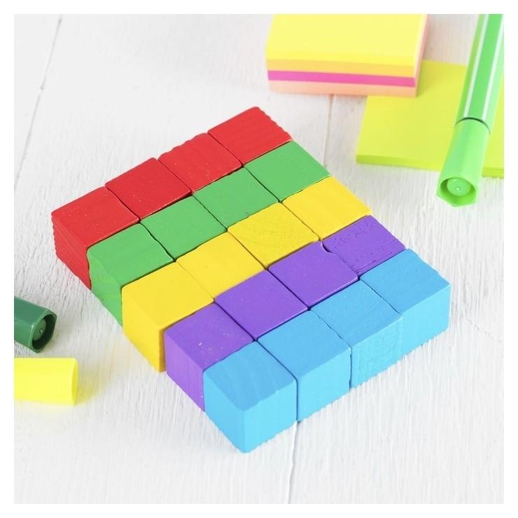Обучающий материал, набор 20 кубиков цветные малые  NNB