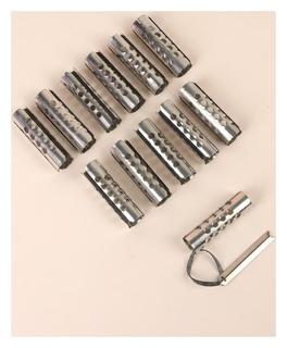 Бигуди металлические на резинке, с планкой, D = 2 см
