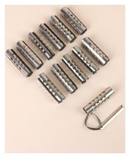 Бигуди металлические на резинке, с планкой, D = 2 см  NNB