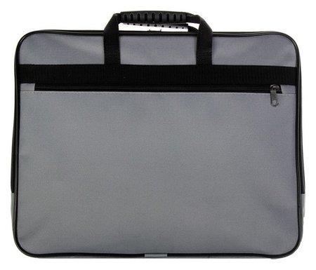 Папка с ручками текстиль А4, 30 мм, 360 х 260 мм, «Офис», 1ш41, с карманом «рант тесьма», серый  Канцбург