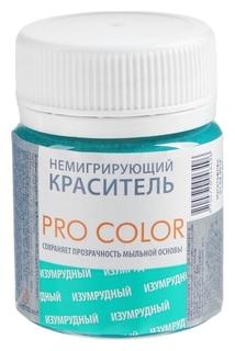 Краситель немигрирующий PRO Color, изумрудный, 40 г Выдумщики