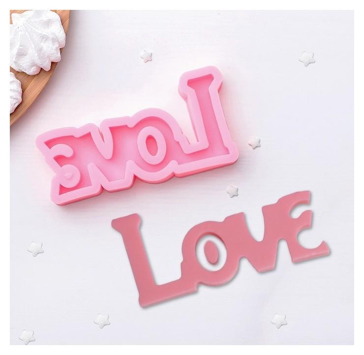 Молд силиконовый «Любовь», 14,5×7,5см, цвет розовый  NNB
