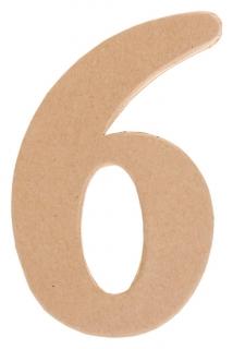 Основа для творчества и декорирования из папье-маше «Цифра шесть» 11 × 7 × 1.2 см