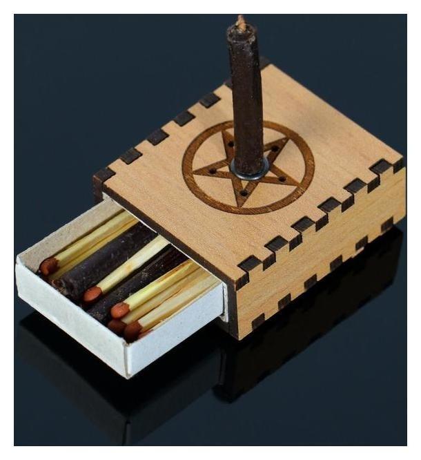 Набор Ларец желаний со свечками Очищение пространства 5,2х4,5х2 см  NNB