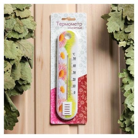 Пластиковый термометр комнатный Цветок в блистере (0 +50) NNB