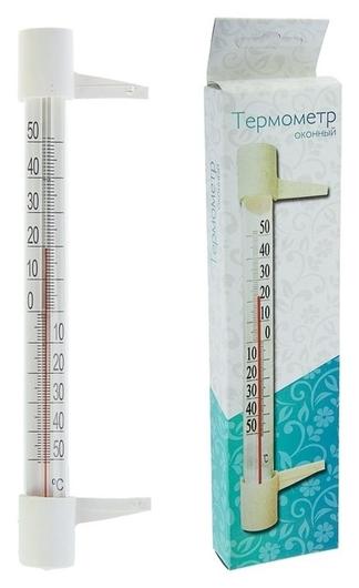 """Пластиковый термометр оконный """"Стандартный"""" в картоне  NNB"""