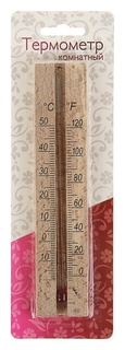 Деревянный термометр комнатный в блистере (0 +50)  Первый термометровый завод