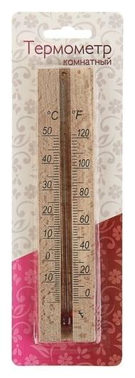 Деревянный термометр комнатный в блистере (0 +50)  NNB