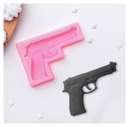 """Молд силиконовый 11×7,5 см """"Пистолет""""  NNB"""