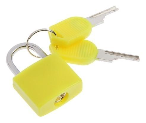 Замок навесной для чемодана, 20х35 мм, малый, желтый  NNB
