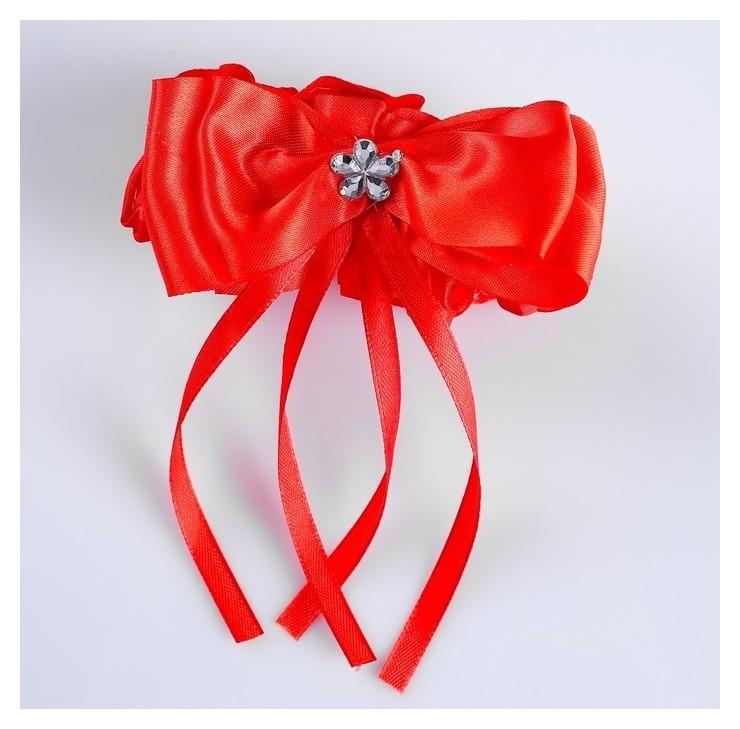 """Подвязка для невесты """"Бант"""", красная  NNB"""