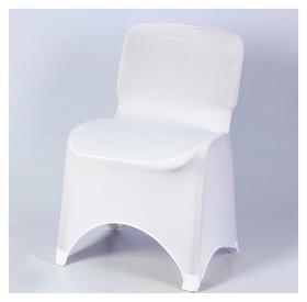 Чехол свадебный на стул, белый  NNB