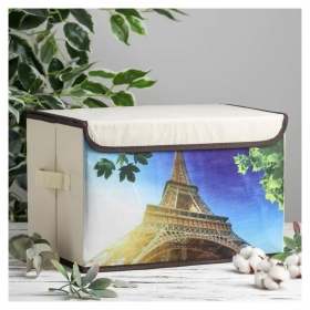Короб для хранения с крышкой «Эёфелева башня», 39×25×25 см  NNB