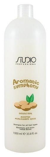 """Шампунь для всех типов волос """"Молочко миндального ореха"""" серии Aromatic Symphony  Kapous Professional"""