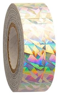 Обмотка для гимнастических булав и обручей NEW Crackle металлик, цвет серебро